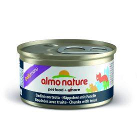 Almo Nature Daily Menu - консервы для кошек с форелью 85 гр