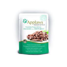 Applaws Pouch tuna wholemeat with mackerel in jelly - паучи для кошек Кусочки тунца со скумбрией в желе 70гр
