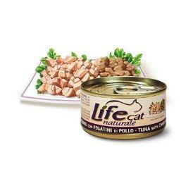 LifeCat Tuna with Chicken livers - Консервы для Кошек с тунцом и куриной печенью в бульоне 70 гр