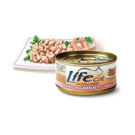 LifeCat Tuna with Shrimps - Консервы для Кошек с тунцом и креветками в бульоне 70 гр