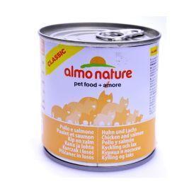 Almo Nature Classic Adult Cat Salmon&Chicken - Консервы для кошек с лососем и курицей