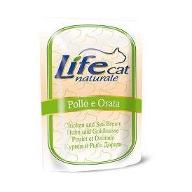LifeCat Сhicken with Sea bream 70g - Паучи для Кошек с курицей и дорадо 70 гр