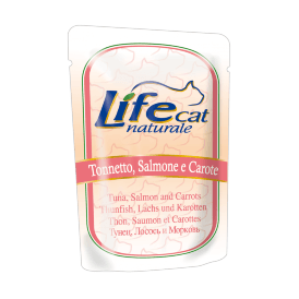 Lifecat Tuna, Salmon and Carrots - Паучи для кошек с тунцом лососем и морковью в желе 70 гр