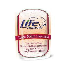 LifeCat Tuna, Beef and Ham - Консервы для кошек с тунцом, говядиной и ветчиной 70 гр.