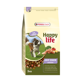 Happy Life Light Senior Chicken - Для пожилых собак с курицей, контроль веса