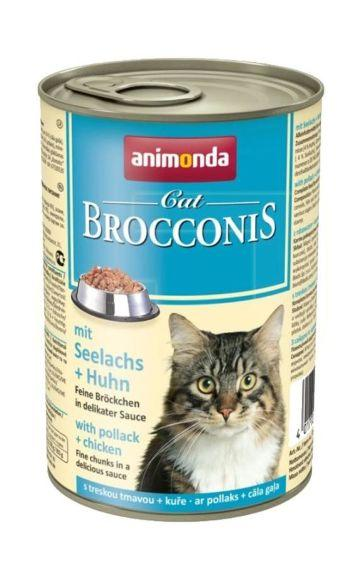Animonda Brocconis - Консервы для кошек с сайдой и курицей 400гр